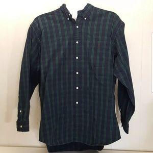Ralph Lauren XL BIG Shirt Green Tartan Plaid